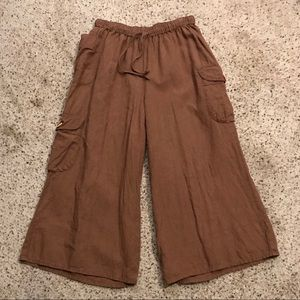 Flax Vntg Small Wide Leg Cropped Pants